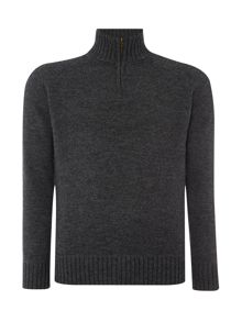 Howick Oakfield 100% Lambswool Funnel Neck