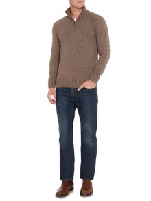 Oakfield 100% Lambswool Funnel Neck