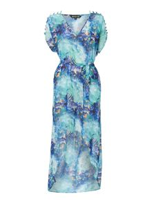 Biba Mineral AOP Split Maxi Dress