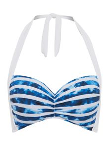 Seafolly Inked Stripe Soft Cup Halter