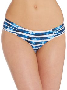 Inked Stripe Ruched Side Pant