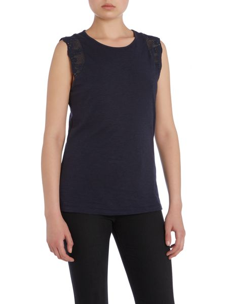 Lauren Ralph Lauren Laradiso sleeves top with lace trim