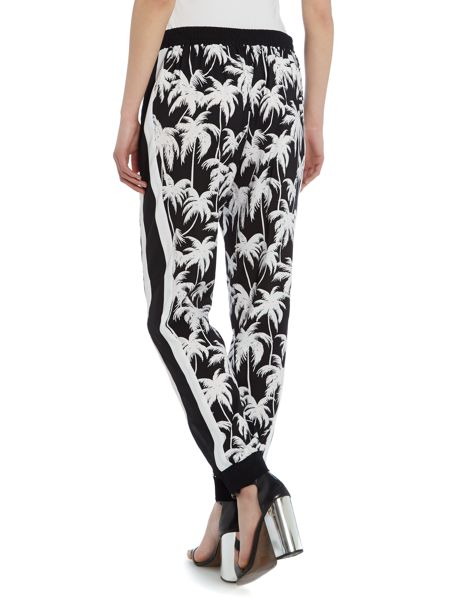 Vince Camuto Slim leg relaxed palm print trousers