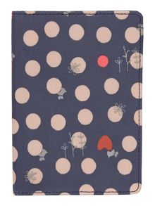 Heart spot dog navy passport cover