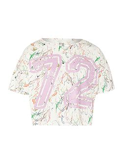 French Connection Girls White Noise Print 72 Tshirt