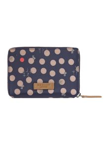 Heart spot dog ziparound purse
