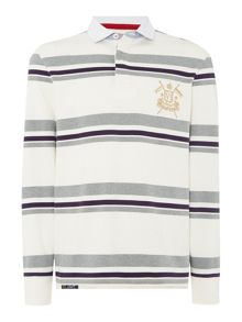 Howick Stripe Rugby Neck Regular Fit Rugby Top