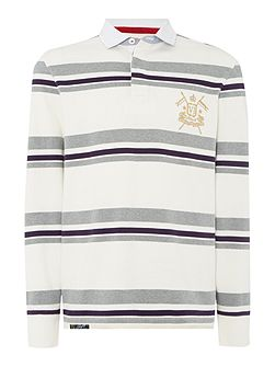 Men's Howick Stripe Rugby Neck Regular Fit Rugby