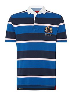 Malden Stripe Short Sleeve Rugby Shirt