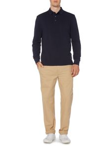 Paxton Plain Pique Long Sleeve Polo Shirt