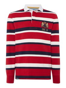 Hanover Striped Long Sleeve Rugby Top