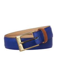 Colour Block Leather Belt