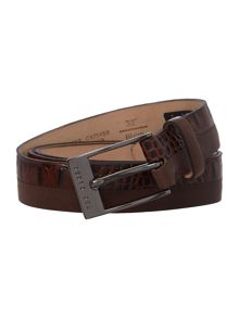 Split Seam Two Texture Leather Belt