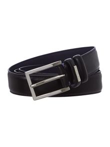 Contrast Stitch Formal Leather Belt
