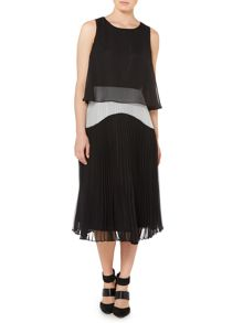 Pleated two in one dress