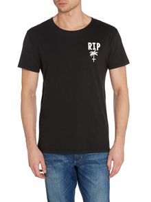 Rip Palm Tree Graphic Slim Fit T-Shirt