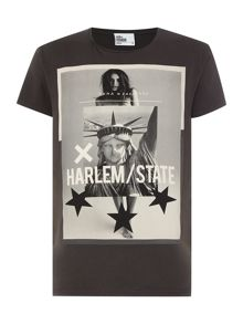 Nena and Pasadena Harlem State Graphic Slim Fit T-Shirt