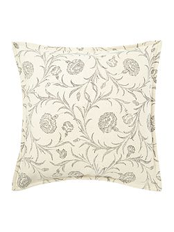 Linea Floral textured print cushion grey