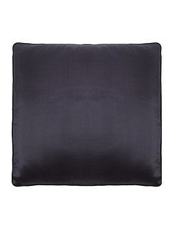 Oversized silk cushion, slate