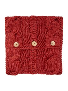 Linea Chunky knit cushion, red