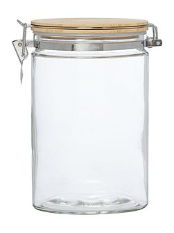 Clip top glass jar medium