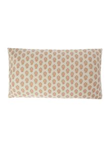 Linea Metallic print linen cushion