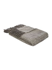 Linea Alhambra heavy cotton diamond throw