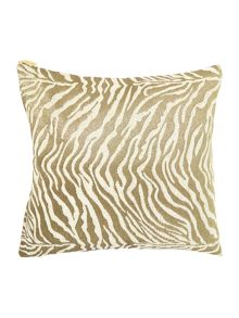 Zebra jacquard cream cushion