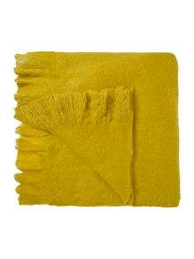 Living by Christiane Lemieux Wool mix throw, citrine