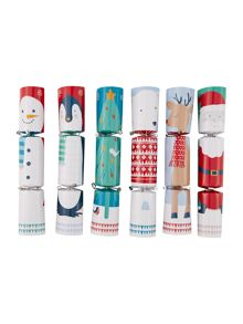 Set of 12 frosty character crackers with game