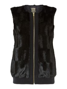 Biba Zip up faux fur gilet