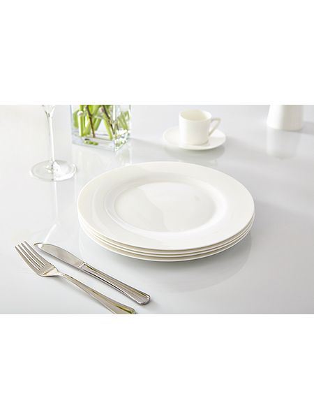 Linea Nova Fine Bone China Rim Dinner Plate Set Of 4 House Of Fraser