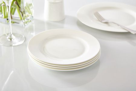 Linea Nova fine bone china rim side plate set of 4