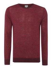 Linea Machine Washable Merino Striped Crew Neck J