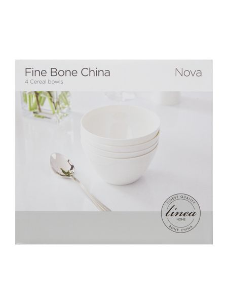 Linea Nova fine bone china cereal bowl set of 4