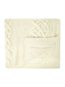 Shabby Chic Vintage pearl knit throw