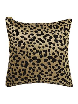 Biba Jacquard leopard black cushion