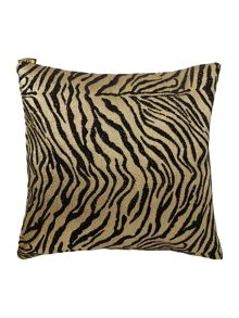 Zebra jacquard black cushion