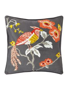 Living by Christiane Lemieux Bird crewel design cushion