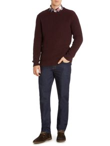 Maple Textured Crew Neck Jumper