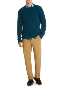 Army & Navy Maple Textured Crew Neck Jumper