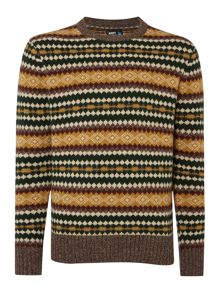 Army & Navy Ringo Fairisle Crew Neck Jumper