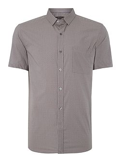 Kwandi Check Slim Fit Short Sleeve Shirt