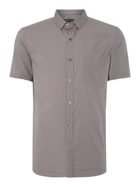 French Connection Kwandi Check Slim Fit Short Sleeve Shirt