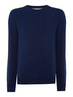 Men's French Connection Ansel Pattern Crew Neck Jumper