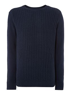 Men's French Connection Parker Knits Ribbed Crew Neck