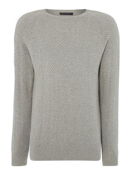 French Connection Urban Chevron Plain Crew Neck Jumper