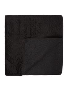 Shell bedspread, black