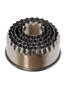 Nested crimped cutters