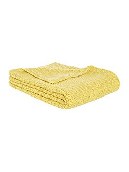Yellow knit throw